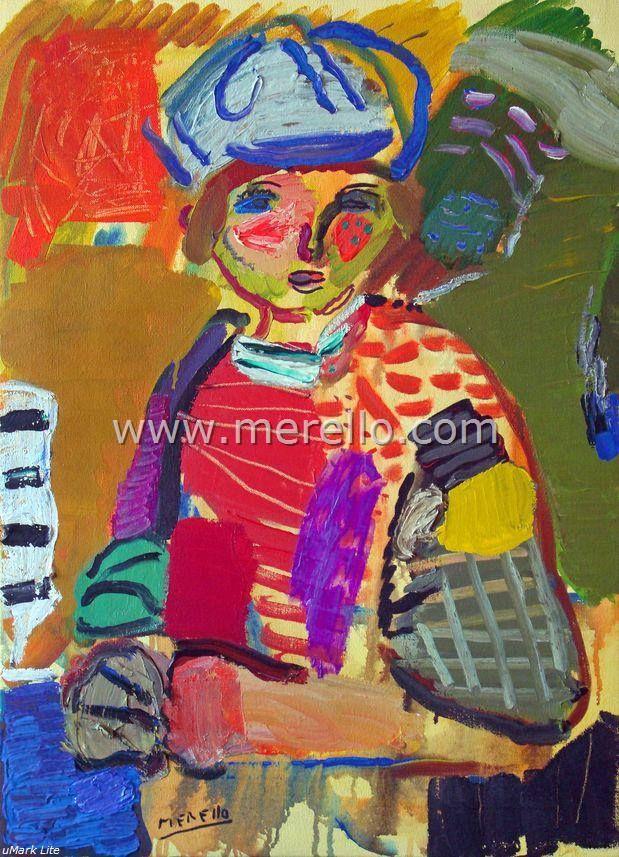 """EXPRESIONISMO LÍRICO. Jose Manuel Merello.- """"Niño marinero."""" (73 x 54 cm) Lienzo Arte contemporáneo. Pintores españoles actuales. Arte actual siglo 21. Pintura moderna. Comprar cuadros de artistas contemporaneos. México, Miami, Madrid. Arte, Lujo e Inversión. Invertir en Arte Moderno. http://www.merello.com"""