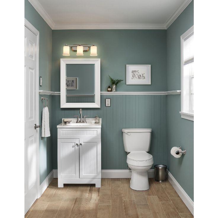 style selections ellenbee 24in white single sink bathroom