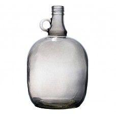 """Vaas grijs doorzichtig glas 17x27cm, """"jug 3 liter smoked grey"""""""
