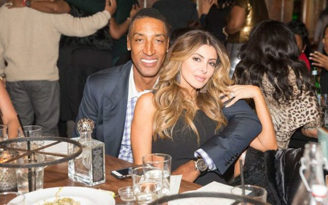 Scottie Pippen with sexy, Wife Larsa Younan