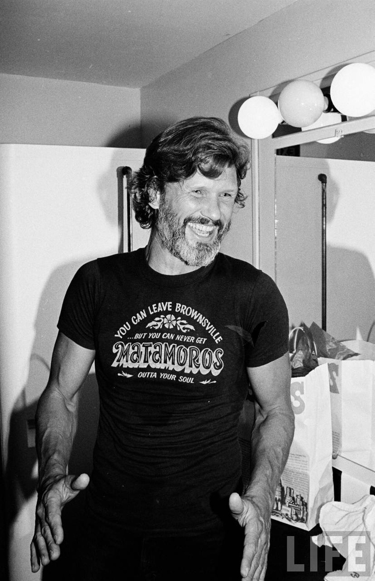 Kris Kristofferson (wearing the greatest tee shirt ever)
