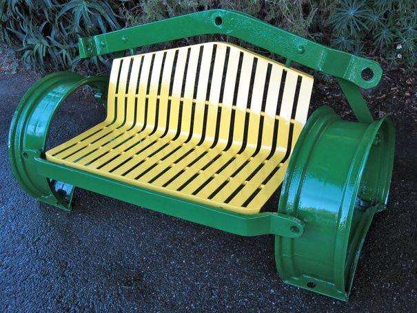 @ElizabethYSell here's series idea ... repurposed farm equipment: love seats - John Deere Tractor parts