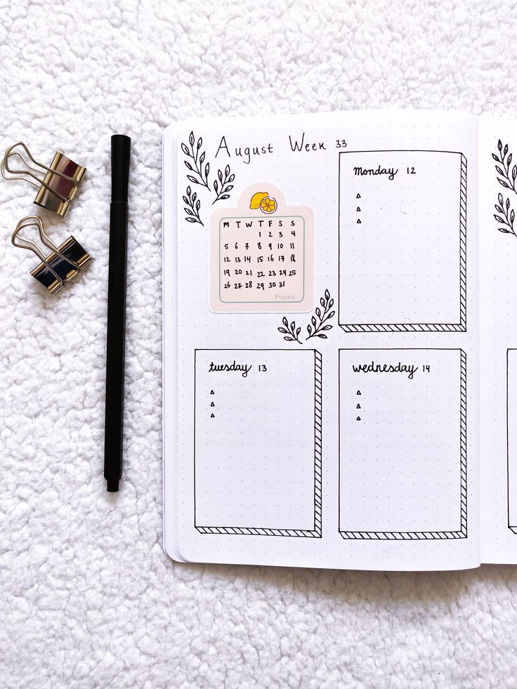 Check the lemon calendar sticker in your bullet journal and diary