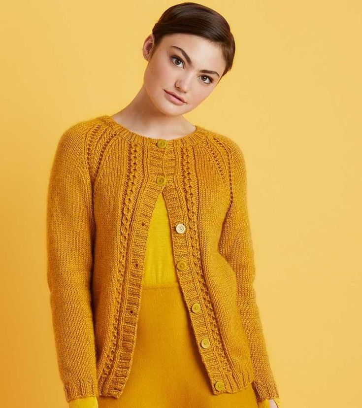 Free Knitting Pattern for a Cabled Raglan Cardigan ...