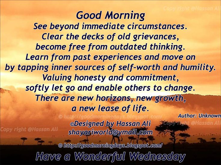 Good Morning Wednesday Inspirational Quotes