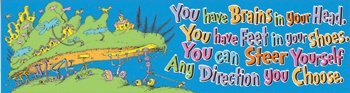 Dr. Seuss - Oh The Places Youll Go Classroom Banner (Eu-849616) Eureka