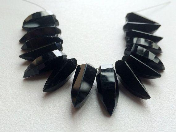 WHOLESALE 10 Pcs Black Chalcedony Black by gemsforjewels on Etsy