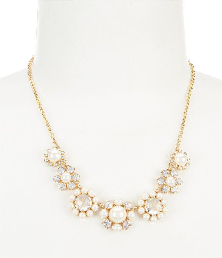 Kate Spade Luminous Faux-Pearl Collar Necklace