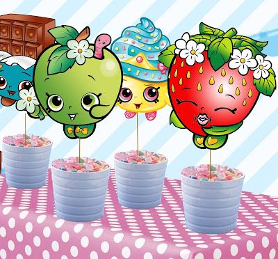 FREE Shopkins Birthday Party Printable Centerpiece, cupcake, bingo files