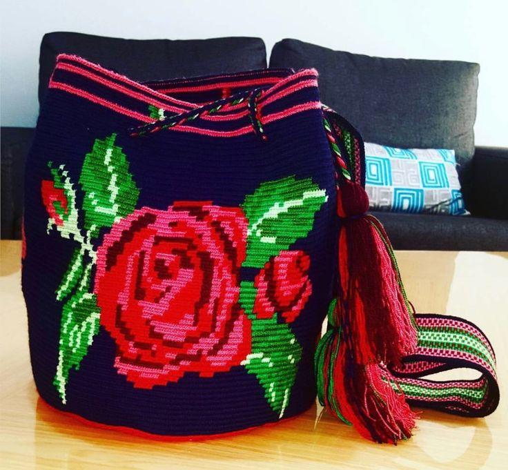 Wayuu Mochila bag rose