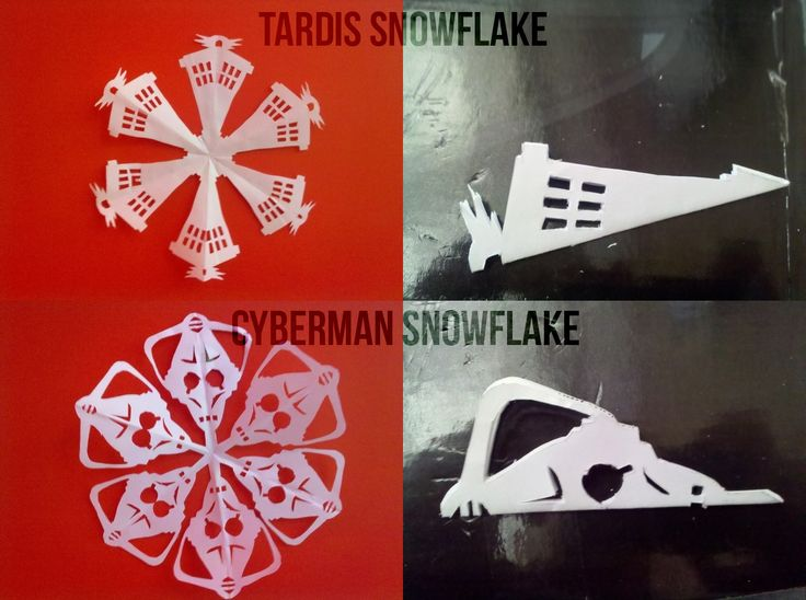 Doctor Who snowflakes