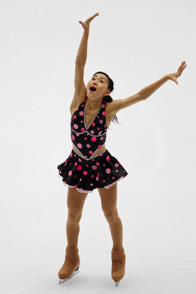 Kanako Murakami -  Black Figure Skating / Ice Skating dress inspiration for Sk8 Gr8 Designs.