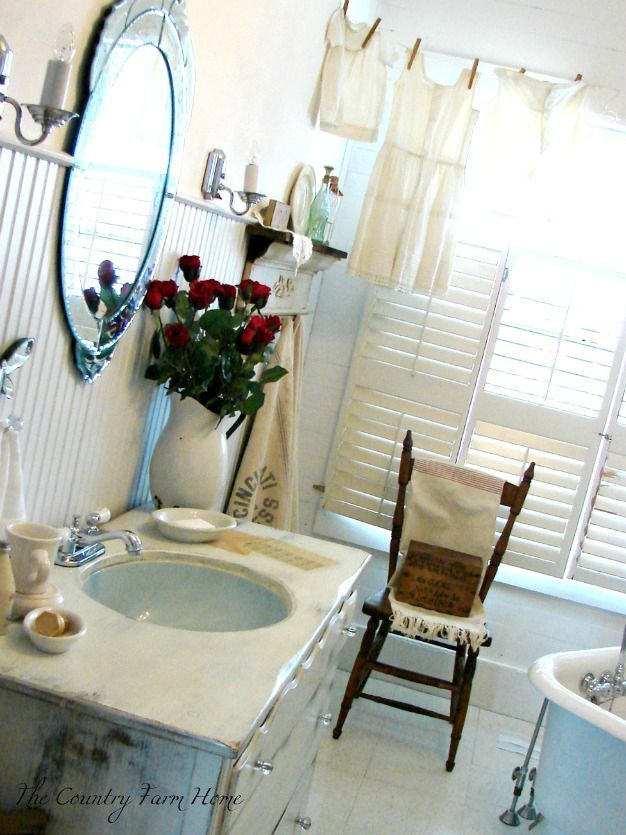 The Country Farm Home: My Blue Haven--Simplifying the Bath