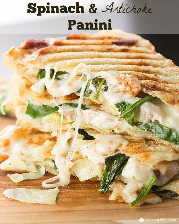 spinach and artichoke panini