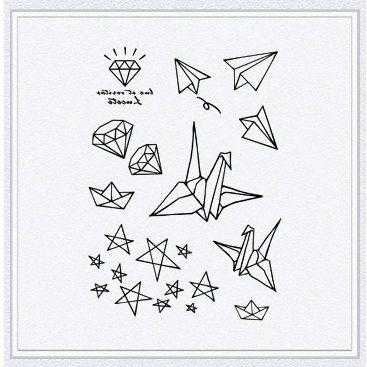 Tattoo temporary Long lasting tattoo paper crane par TattooKorea, $6,50