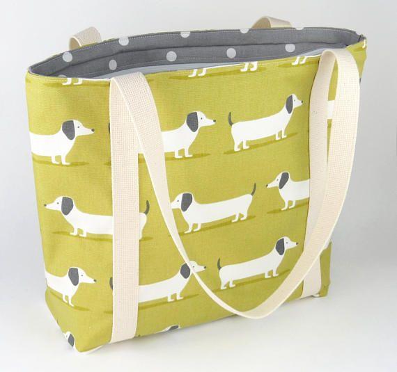 Womens Handbag  Womens Gifts  Dog Handbag  Fabric Handbag