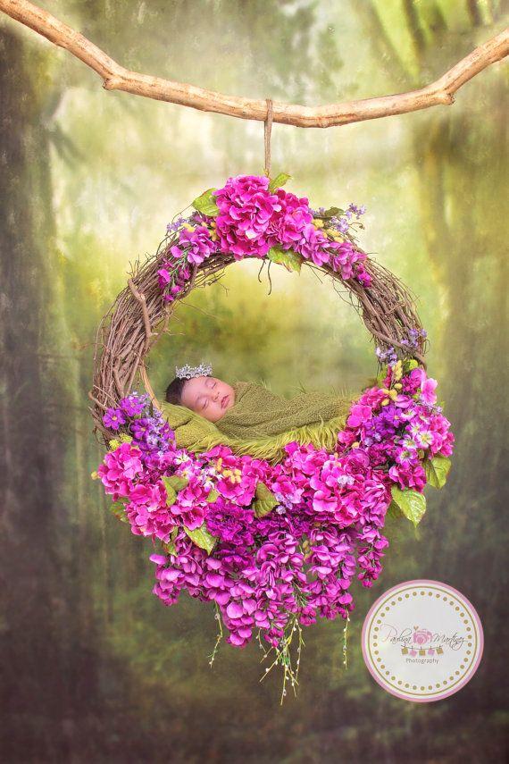 Baby Flower Nest Photography Prop Newborn by ...