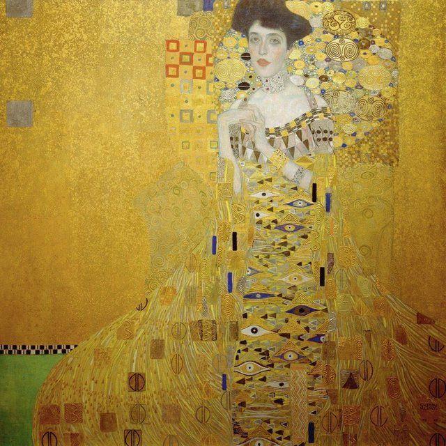 Poster, Leinwandbild »Menschen Frau Malerei Gelb«