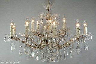 Kristallen Maria Theresia kroonluchter 26689 bij Van der Lans Antiek. Meer kristallen lampen op www.lansantiek.com
