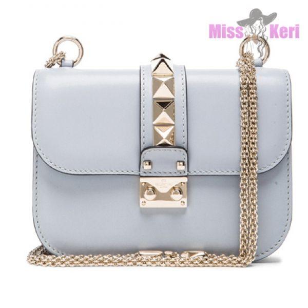 Valentino Garavani small Glamlock shoulder bag - Blue Valentino QqKIhXG