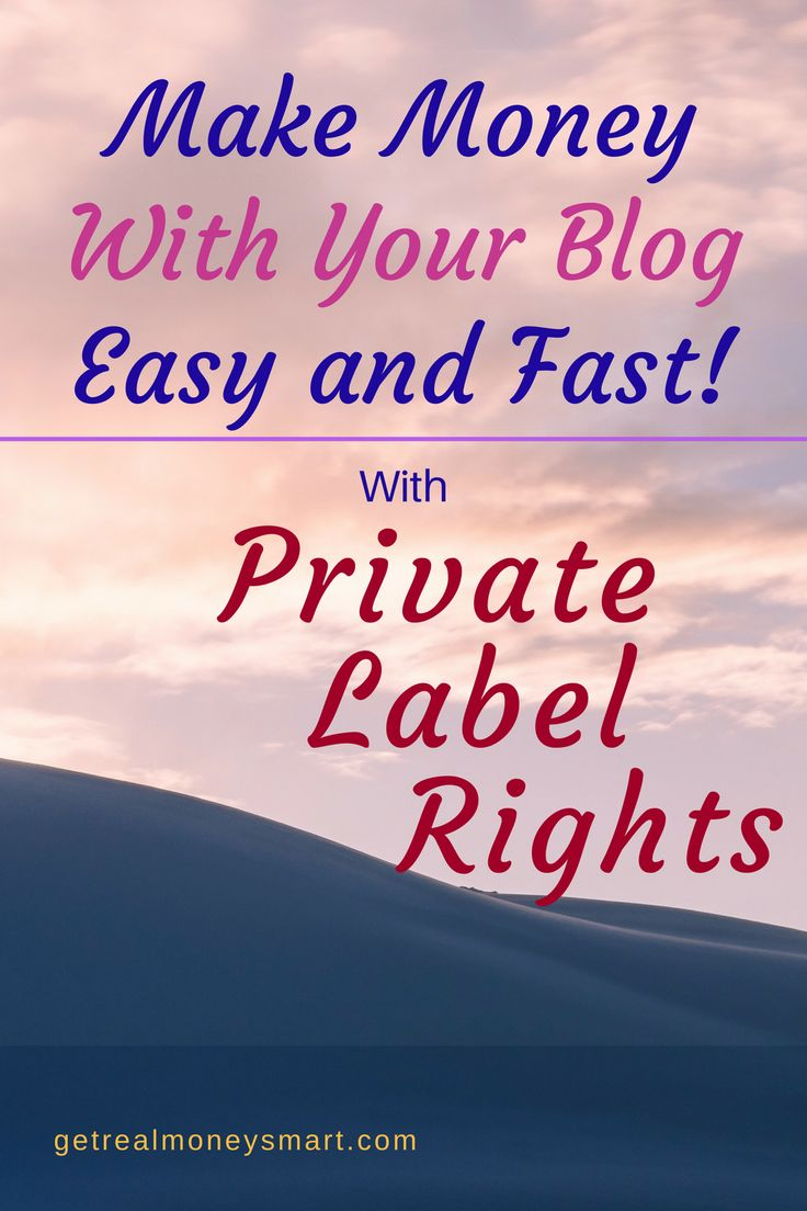 Facebook Twitter Google+ Pinterest LinkedInMake Money With Private Label Rights This might be the easiest and best way to make money from your blog! Get the free guide – sign up on the right. No, this is not affiliate marketing! It's Private Label Rights, PLR for short. PLR: — does NOT require you to make your own product — does ... Read More