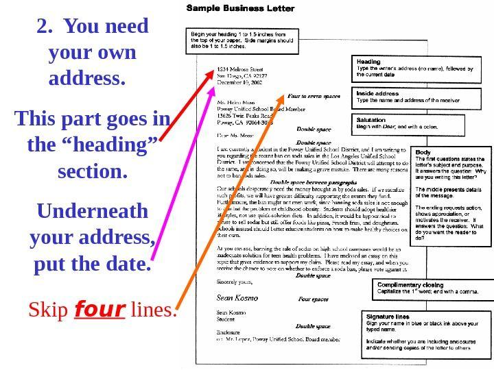 business letter ppt sample presentation Home Design Idea - copy letter format sender address