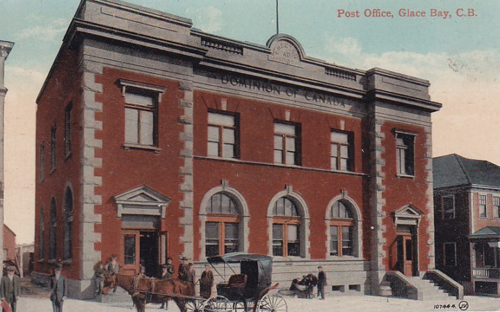 Glace Bay Post Office_Glace Bay_Cape Breton_Nova Scotia_Early 1900's http://CaperBlogs.Com