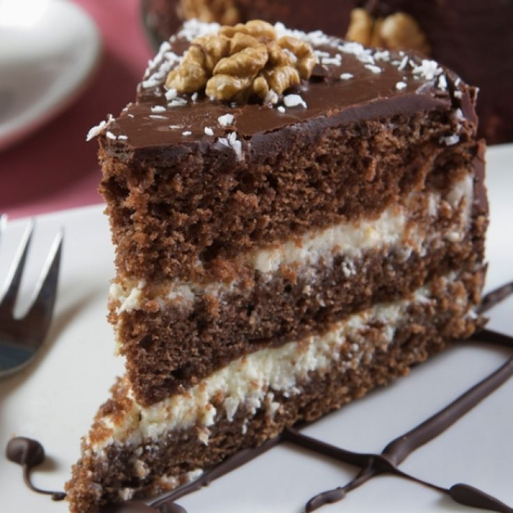 A moist Chocolate Cake filled with a Whipped Frosted Filled and covered with delicious Chocolate Frosting. This will make you say yum.. Chocolate Cake With Whipped Frosted Filling Recipe from Grandmothers Kitchen.