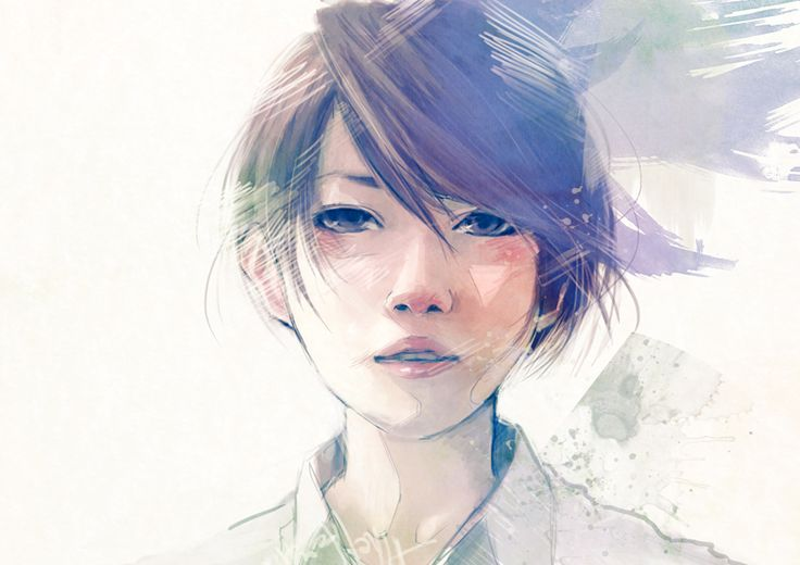 Beautiful Manga Illustrations by Wataboku