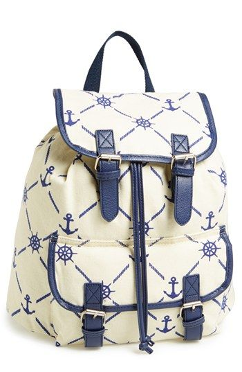 Amici Accessories Anchor Print Backpack (Juniors) (Online Only) available at #Nordstrom                   34.00