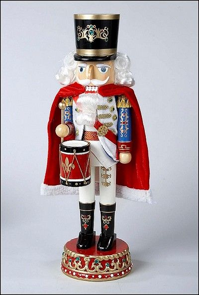 "Kurt Adler 16"" Wooden Drummer Nutcracker                                                                                                                                                                                 More"