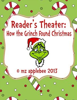 readers theater how the grinch found christmas