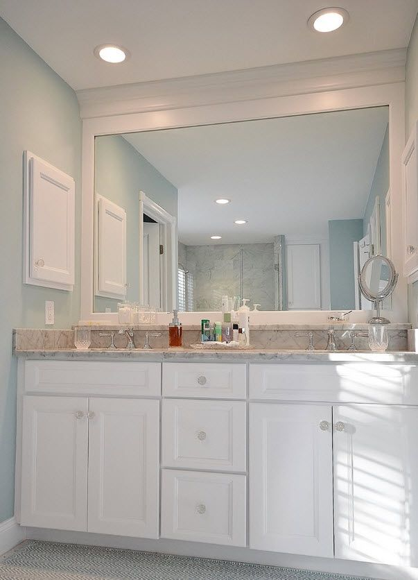 Delightful Beautiful Bathroom, Clean Lines, Kabinart Wakefield Door Style In Aspen  White Project By Chester