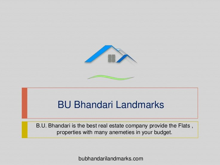 If you are lookout 2 & 3 bhk flat for sale in Kondhwa Pune? Your search ends here Bu Bhandari Landmarks reputed builders provide best residential projects with all modern amanitas. Visit here @ https://www.slideshare.net/bubhandarilandmarks/buy-2-3-bhk-flat-for-sale-in-kondhwa-pune