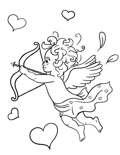 cupid coloring pages free - photo#38
