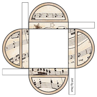 Several printable sheet music themed gift boxes here. Also a lot of labels and miscellaneous things to print. Great site.