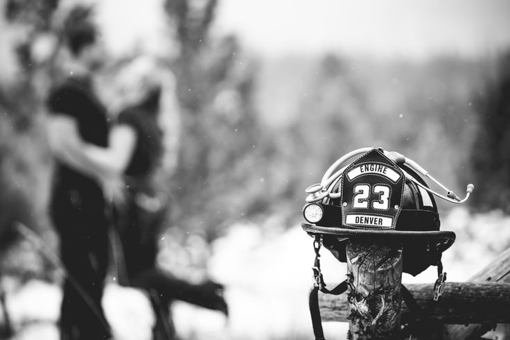 Engagement photos for a nurse and firefighter taken in Estes Park, Colorado by Jared M. Gant of www.jmgantphotography.com