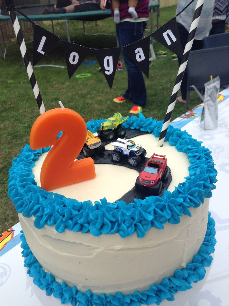 Logan's Blaze and the Monster Machines birthday cake