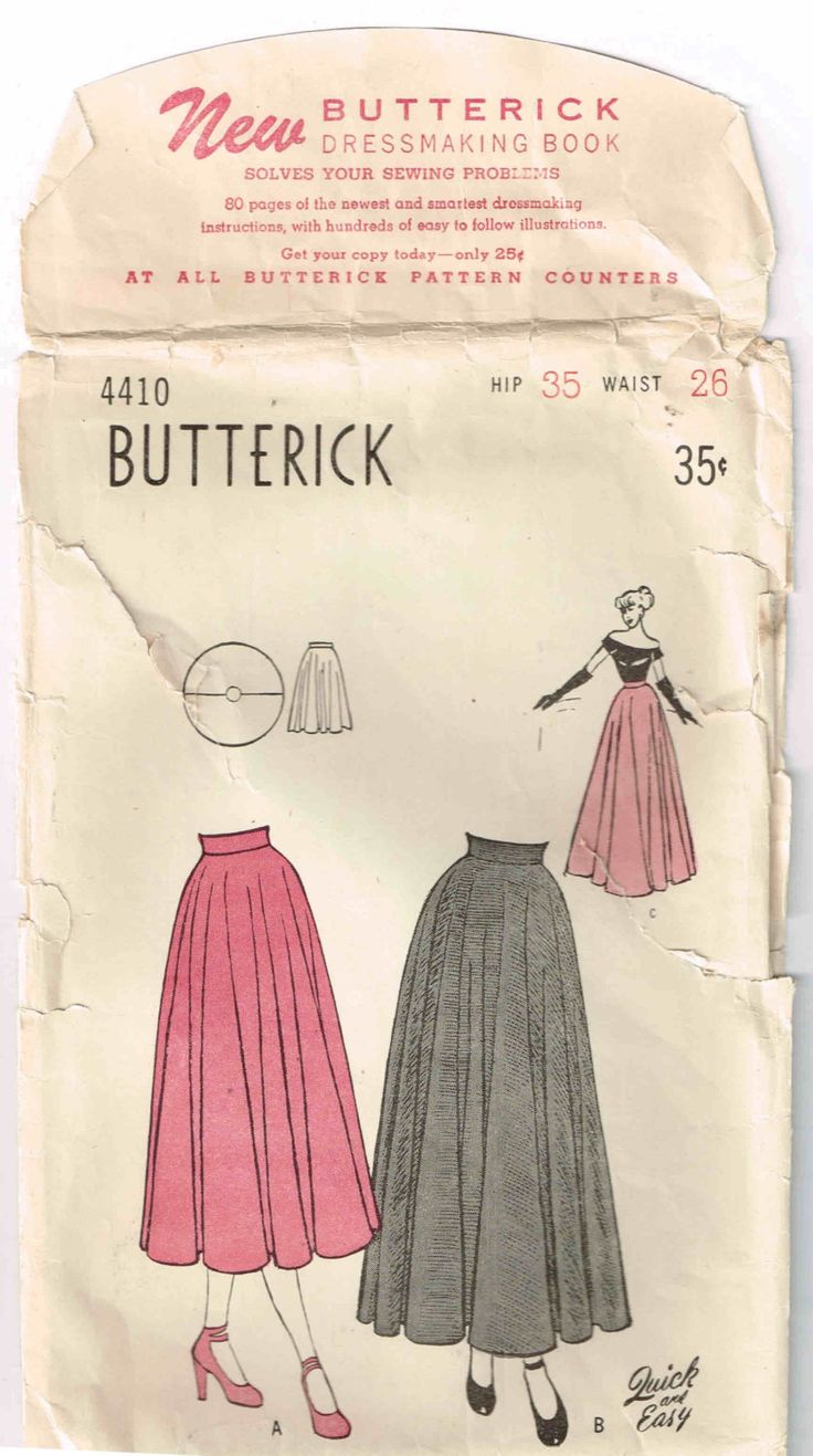 Butterick 4410 Completely Circular 2 Piece Flared Skirt Size 14 Vintage Sewing Pattern by TheShoppingMoll on Etsy