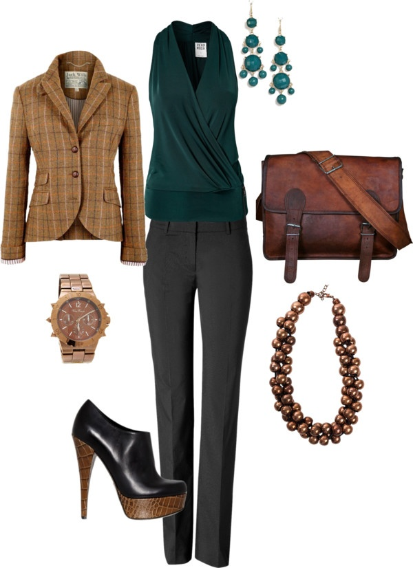 """""""Professor"""" by molibaker on Polyvore: Great, except for the shoe, which would never be appropriate or comfortable on a campus."""