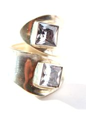 Ring SS Cubic Zirconia