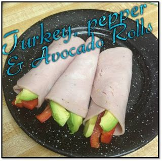 Turkey, pepper, avocado rolls from the T25 recipe book...YUMMY!!