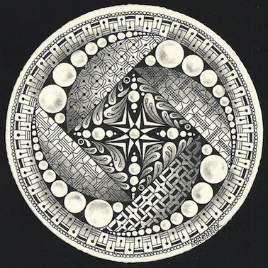 Enthusiastic Artist ~ Zenadala by Certified Zentangle Teacher Margaret Bremner