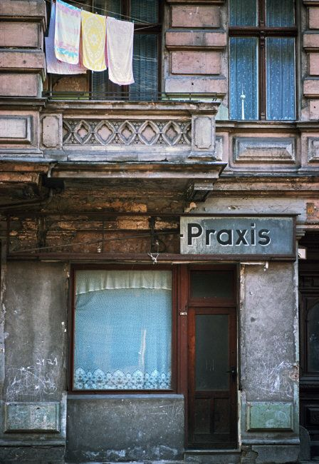 Magnum Photos – Thomas Hoepker — East Berlin. 1975. Fading Insciptions on walls in Prenzlauer Berg district, most dating back to the period 1910 to 1930.