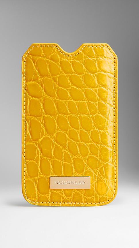 Футляр для iPhone 5/5s из кожи крокодила | Burberry