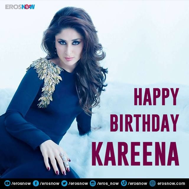 Birthday wishes for the ever so gorgeous and stylish ‪#‎KareenaKapoorKhan‬! ‪#‎HappyBirthdayBebo‬.