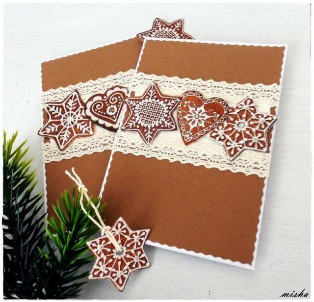 Medovníčkové vianočné pozdravy / Artmama.sk / Very original, very cool christmas cards! Perfect!