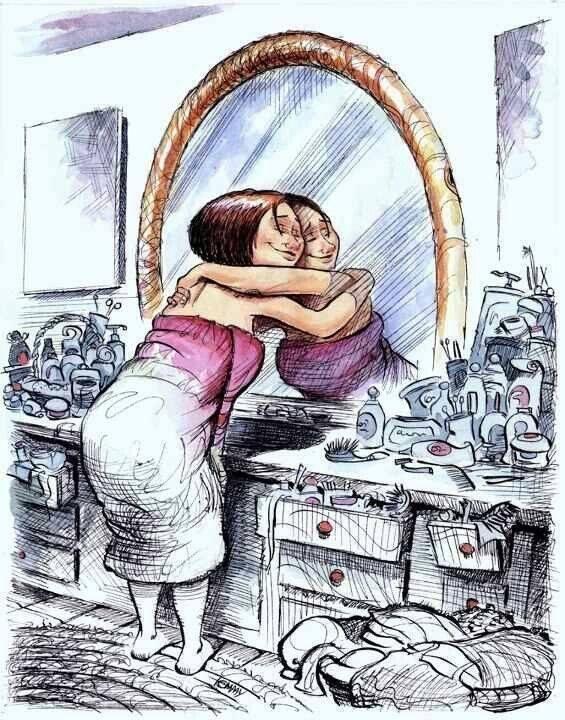 Als duizend anderen van je houden, maar je houdt niet van jezelf, zal andermans liefde nooit volstaan.