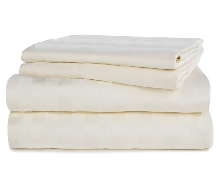 Ivory 320 Thread Count 4-Piece King Sheet Set at Big Lots.