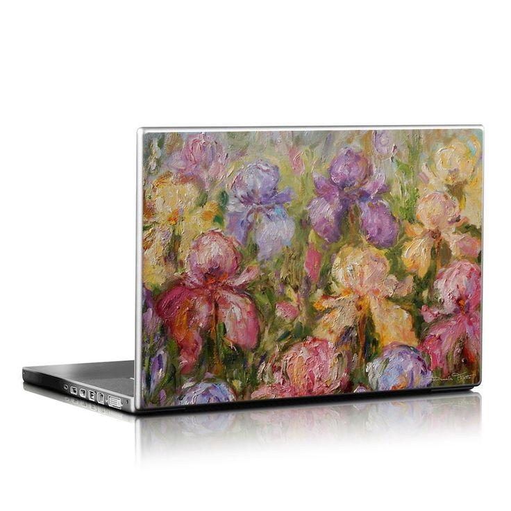 Field Of Irises Laptop Skin